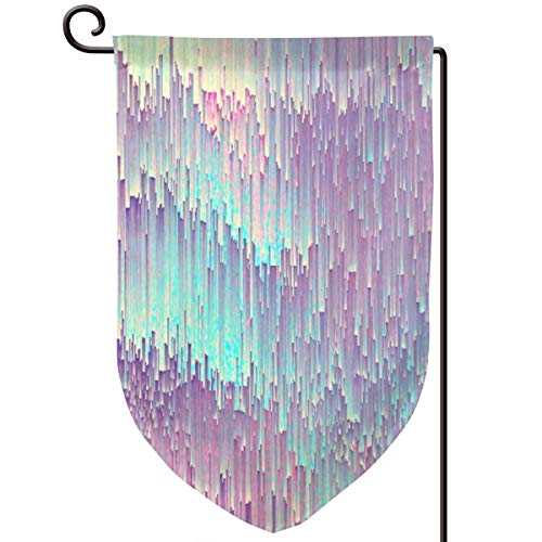 LALACO-Design Iridescent glitches Garden Yard Flag 12.5