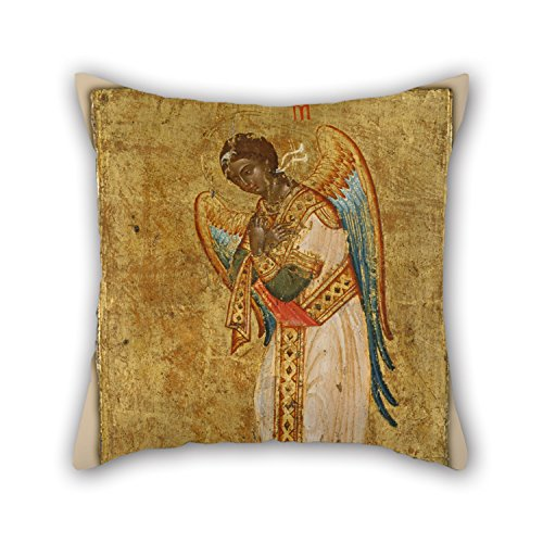 Bestseason Oil Painting Tzangarolas Stephanos - The Archangel Michael Pillowcase 20 X 20 Inches / 50 By 50 Cm Gift Or Decor For Father,husband,christmas,dance Room,sofa,chair - 2 Sides