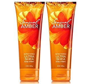 Bath and Body Works Sensual Amber Triple Moisture Body Cream 8 oz 2 Pack