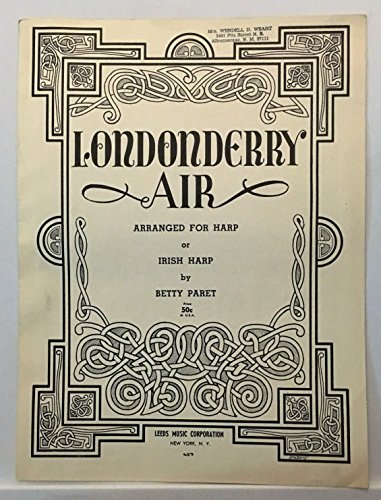 Londonderry Air. Arranged for Harp or Irish Harp by B. Paret