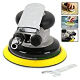 5'' Professional Air Random Orbital Sander Dual Action Pneumatic Disc Sander Polisher Air Tool for Construction,Automobile,Manufacuring, Repair Industries and Mold Industry