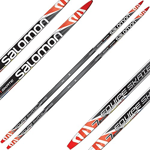 Salomon Equipe 7 XC Skate Skis with SNS Pilot Bindings, Fully Assembled, 181cm Length by Salomon