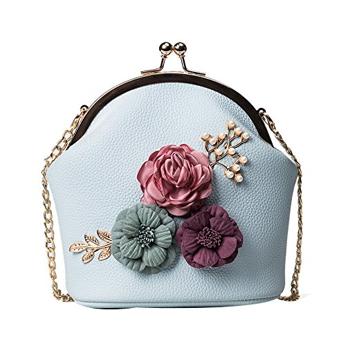 Blue Stereo ZOMUSA Bag Clearance Small Tote Shoulder Fashion Purse Flowers Ladies qqTtvw