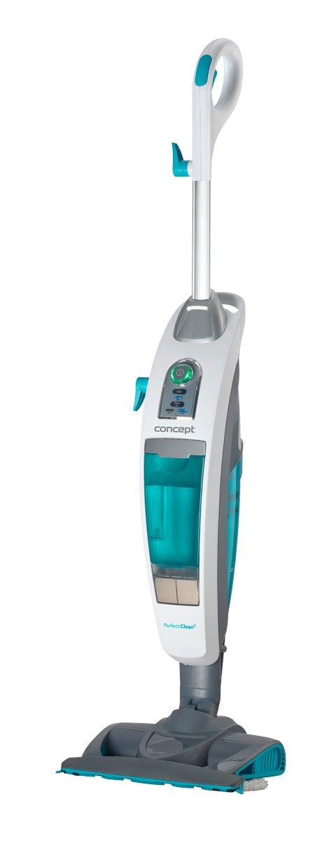 CONCEPT Hausgeräte CP3000 Staubsauger und Dampfreiniger 3-in-1 Perfect Clean, 0,73 L, 1600 W, Weiß [Energieklasse A] Weiß