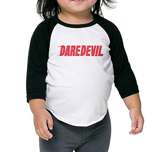 [Cayonom Child Kids Daredevil Letter Baseball Raglan Jersey 3 Toddler] (Iron Fist Costumes For Kids)