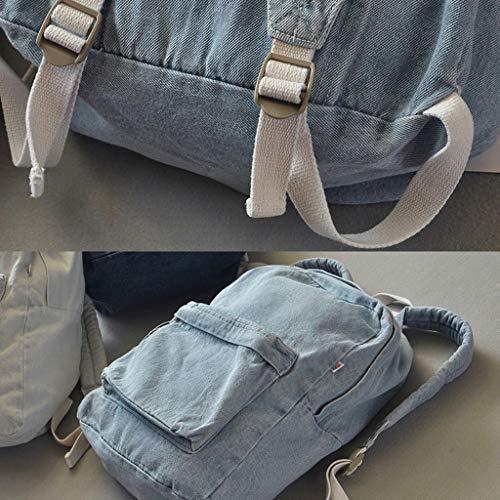 Blue bag 54 Deep escursioni 81x5 donna 51x16 Dabixx vintage borsa Light zaino white 11 viaggio Blue uomo 30x14x42cm scuola casual Book fwvOq1U