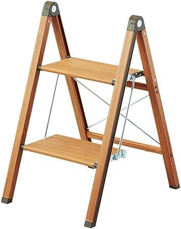 Escaleras plegables Escalera de paso plegable, Escalera de mano estrecha, Escalera de aluminio, Estante de flores, Escalera de escalada de dos capas (Color : Brown , Size : 65*51*39cm) : Amazon.es: Hogar