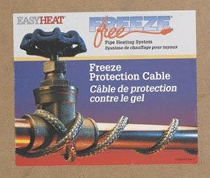 Mobile Home 100' Easy Heat Braid Self Regulate Water Line Freeze-Free Protection Includes Four (4) Plug Kits by Easy Heat