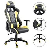 Officelax Racing Chair Gaming Chair High Back Reclining Swivel Executive Office Chair (yellow)