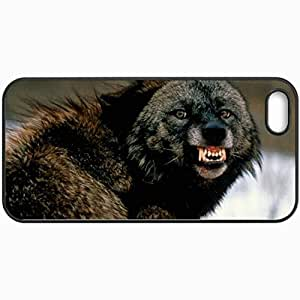 Personalized Protective Hardshell Back Hardcover For iPhone 5/5S, Rage Design In Black Case Color