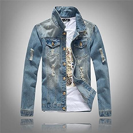 YLSZ jacket Sau camicia denim uomini giacca Jeans uomo denim