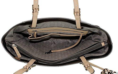 Michael Kors Handbag Signature Patent East West Tote Nickel
