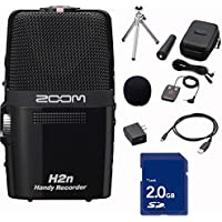 Zoom H2n Handy Handheld Digital Multitrack Recorder Bundle with APH-2N Accessory Pack and SD Card