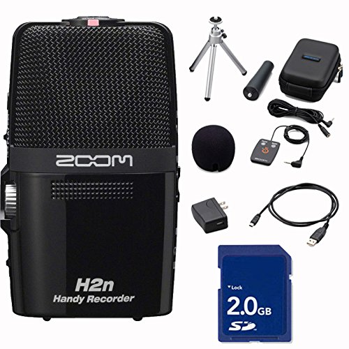 ZOOM H2n Handy Handheld Digital Multitrack Recorder Bundl...