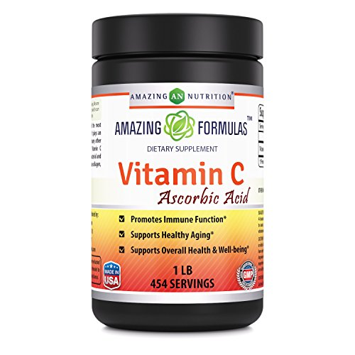 Amazing Nutrition Amazing Formulas Vitamin C Ascorbic Acid Dietary Supplement – 1 Lb. Powder (Approx. 454 Servings ) – Provides Immune & Healthy Aging Support -* For Sale