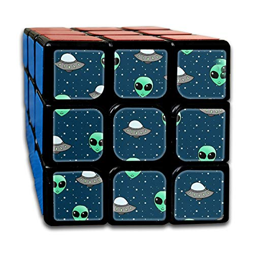 Partrest Alien Spaceship Rubik Cube Super-Durable with Vivid Colors 5.5x5.5 Cube Easy Turning and Smooth Play Magic Cube Puzzle Cube