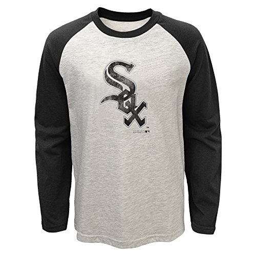 OuterStuff MLB Chicago White Sox Youth Boys 8-20 Long Sleeve Raglan-L (14-16) Sox Long Sleeve Polo