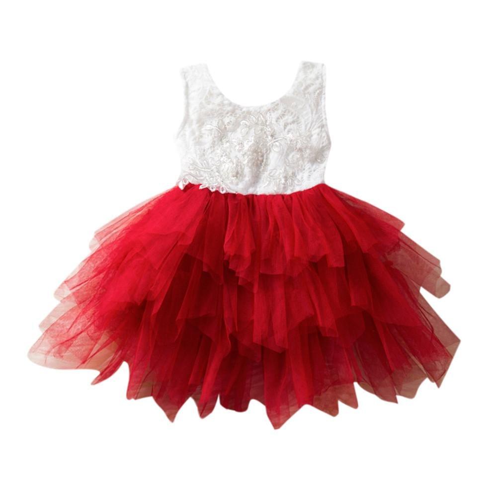 Vestito Abito principessa bambina Ragazza da cerimonia nuziale del partito di compleanno della festa della damigella d'onore della principessa neonate del fiore Rawdah Rawdah-024