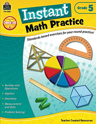 - Instant Math Practice, Grade 5
