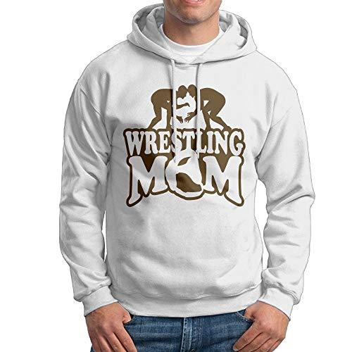 Wrestling Mom 2 Hooded Sweatshirt Novelty Pullover Hoodie for Male by Oiir Ooiip