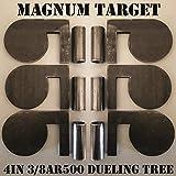 4' x 3/8' AR500 Steel Shooting Range Targets Dueling Trees Metal Paddles w/Tubes