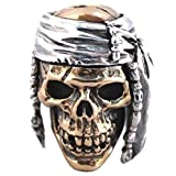 Indian 2 Paracord / Lanyard Bead in .925 Sterling Silver & Bronze by GD Skulls
