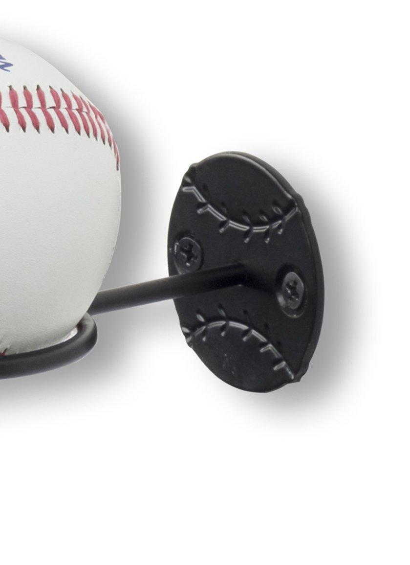Wallniture Sports Memorabilia Baseballschl/äger und Ball Halterung Wand montiert Display Rack Stahl Schwarz 4/St/ück