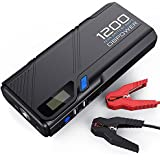 DBPOWER 1200A Peak Output Portable Car Jump Starter (for 6.5L gas/5.2L diesel engines), Battery Booster Power Pack, QC 3.0 Power Pack Phone Charger with Built-in LED Emergency Flashlight