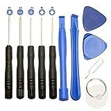 CoWalkers Kit de Herramientas de Destornilladores para Reparación Universal DE 11 Piezas con Palanca de Apertura para teléfono Inteligente iPhone Samsung con teléfono Inteligente
