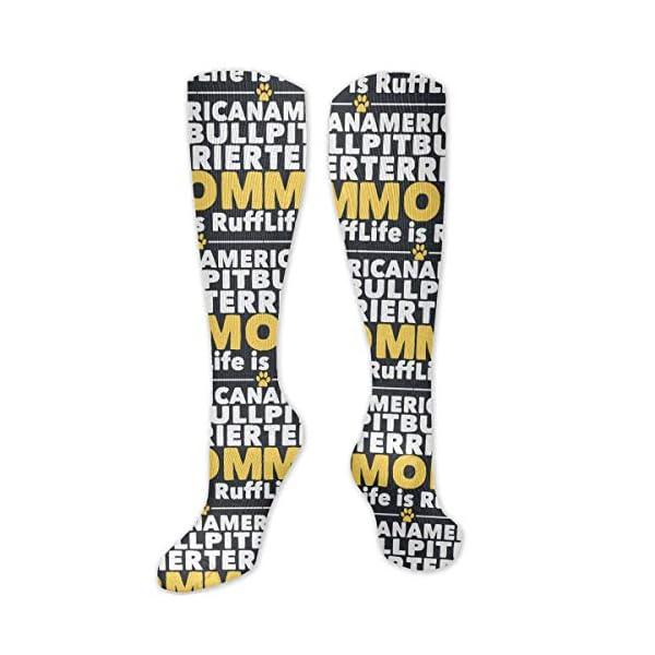 Women's Stockings, Daily American Pitbull Terrier Mom Long Socks 1