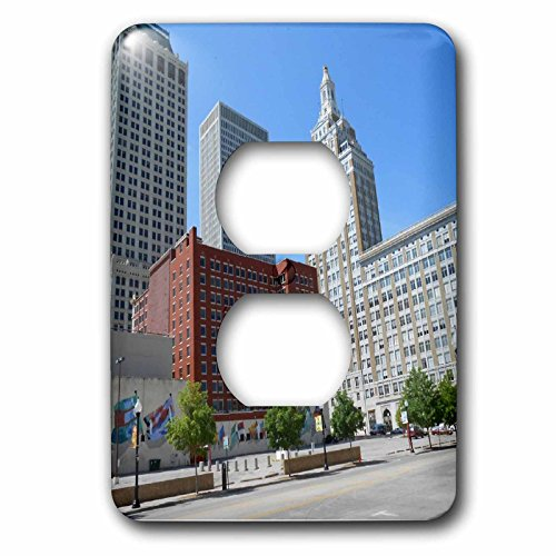 3dRose Cities Of The World - City Of Tulsa, Oklahoma - Light Switch Covers - 2 plug outlet cover - City Outlet Oklahoma
