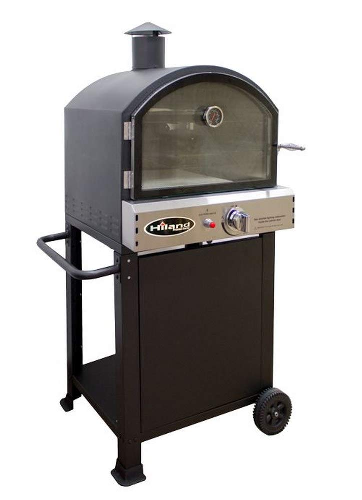 "AZ Patio Heaters PSL-SPOC 56.3"" Propane Pizza Oven with Stone, Black Finish"