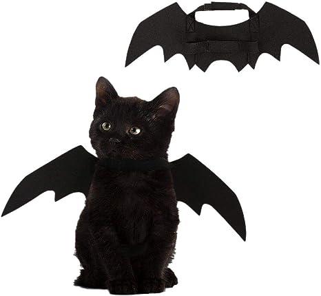 Leezo Disfraz de Halloween para Mascotas, alas de murciélago ...