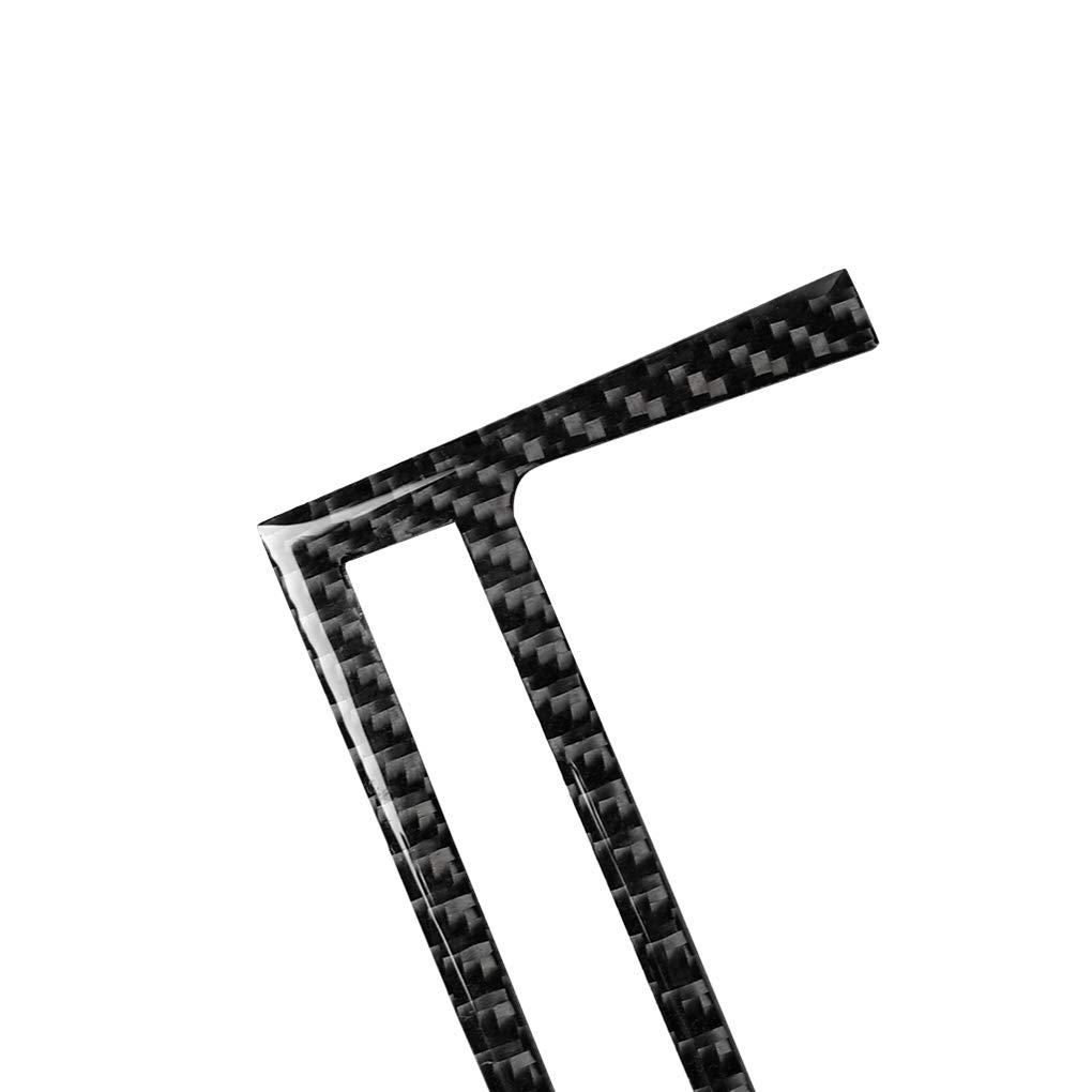 Elenxs Reemplazo para el E46 M3 1998-2005 2pc Ajuste de Potencia Toma del Encendedor del Panel de la Cubierta de Fibra de Carbono de la decoraci/ón