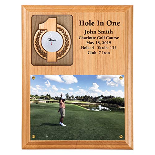 - Eureka Golf Products Hole-in-One Ball and Scorecard or Photo Plaque-Free Personalization