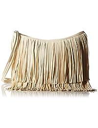 Hynes Victory Fringe Tassel Hobo Shoulder Bag(Khaki)