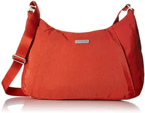 e0c88c451 Baggallini Slim Crossbody Hobo Bag – Lightweight Roomy Purse with Zippered  Pockets and Removable RFID Wristlet