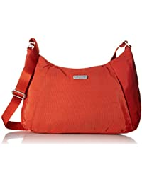 Slim Crossbody Hobo Bag – Lightweight Roomy Purse with Zippered Pockets and Removable RFID Wristlet