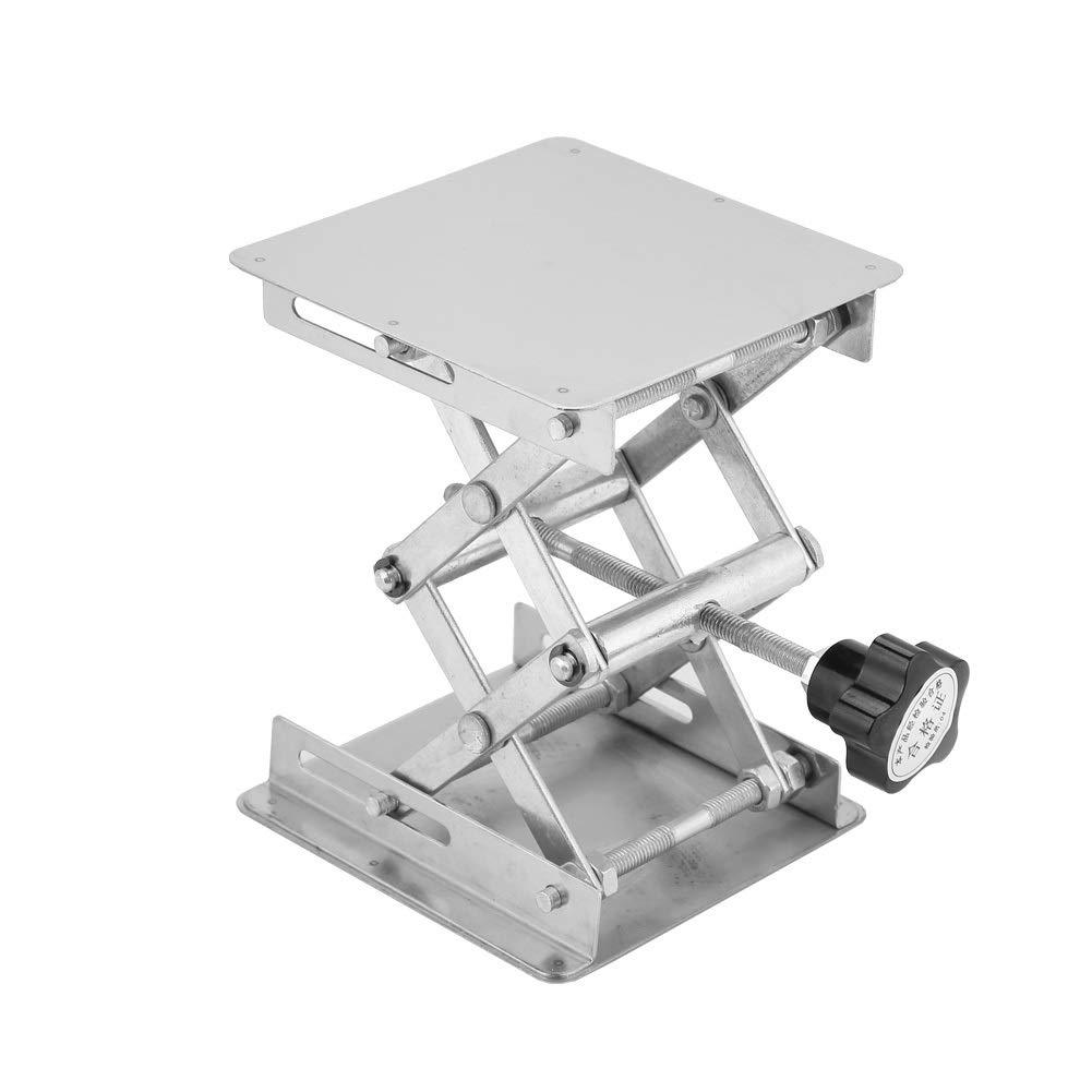 Stainless Steel Lab Jack Stand - Lab Stand Table Scissor Lift - Lab Scissor Stand Platform Lab Jack 4x4 Inch