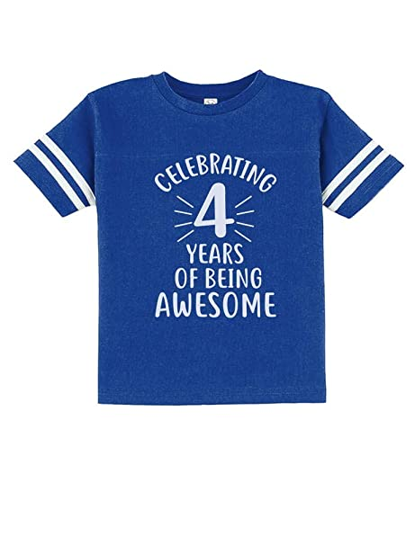 Amazon 4 Years Of Being Awesome Birthday Gift For Year Old Toddler Jersey T Shirt Clothing
