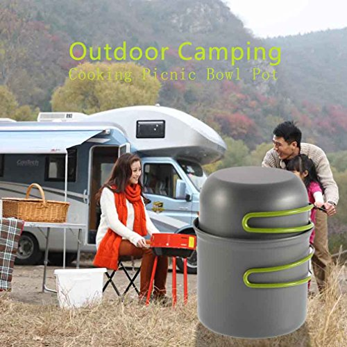 Qulable Cookware Outdoor Pan Camping Hiking Backpacking Cooking Picnic Bowl Pot by Qulable (Image #7)