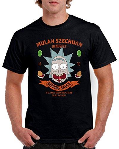 1986-Camiseta Premium, Nugget Sauce (DDjvigo) Negro