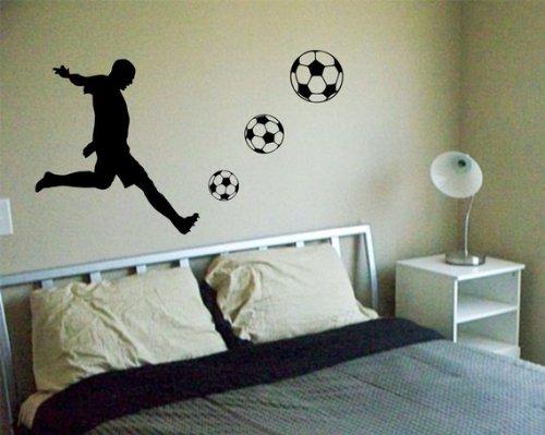 Soccer Player Decal Sticker Wall Cool Sports Futbol Boy Girl Nice Modern Nusery by Dabbledown