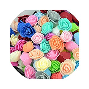 20pcs Mini Artificial Tea Rose Flowers for Bride Wrist Wedding Home Decorations Scrapbooking DIY Craft Supplies Accessories Fake 8