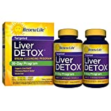 Renew Life - Liver Detox -  Milk Thistle liver cleanse - liver support - liver detox and cleanse supplement - 30 day - 120 vegetable capsules
