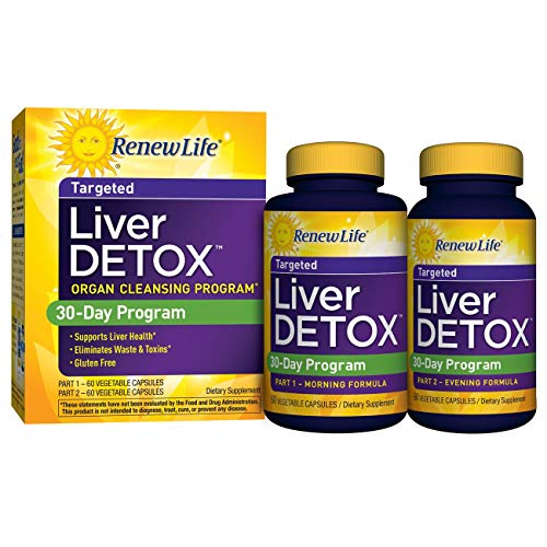 Renew Life Liver Detox - liver detox and cleanse supplement - 30 day - 120 vegetable capsules