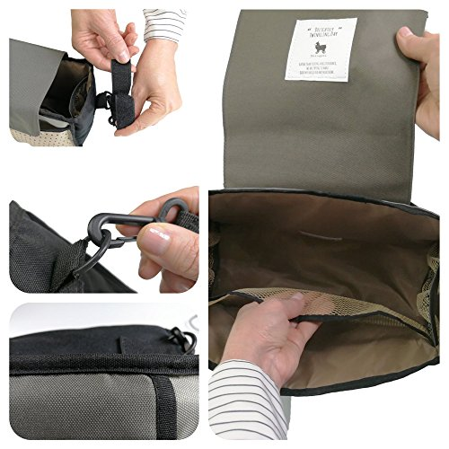 My FL Universal Baby Stroller Organizer Bottle Cloth Diapers Holder Hanging Storage Bag (Black Triangle) by my FL (Image #5)