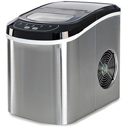 Best Choice Products Compact Digital Ice Maker w/ 2 Cube Sizes (Stainless Steel, 26 Lbs. of Ice Daily)