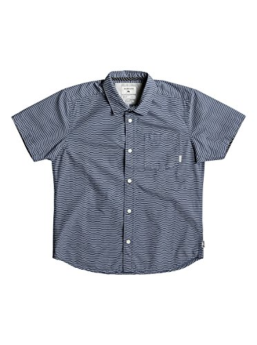 Quiksilver Boys Heat Wave Ss Youth Short Sleeve Shirt Blue (Boys Blue Ss Shirt Top)