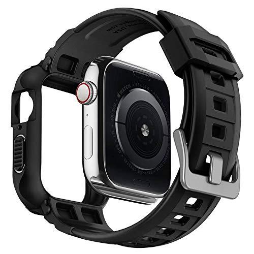 Spigen Rugged Armor Pro Designed for Apple Watch Case for 44mm Series 5 / Series 4 - Black by Spigen